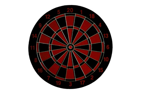 dart board: Red Dart board isolated on white