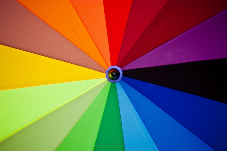 vibrant colours: Spectrum colors on umbrella