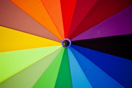 color spectrum: Spectrum colors on umbrella