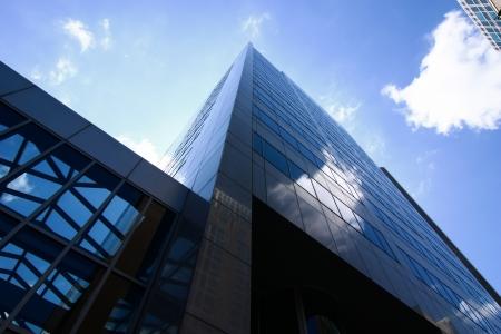 edificio corporativo: Edificio urbano en vista inclinada