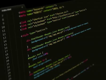 screenshot: Code,CSS script in text editor