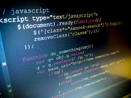 Javascript コード 写真素材