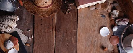 Vintage Marine Wooden Background