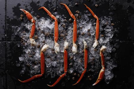 Fresh Crab Legs on ice