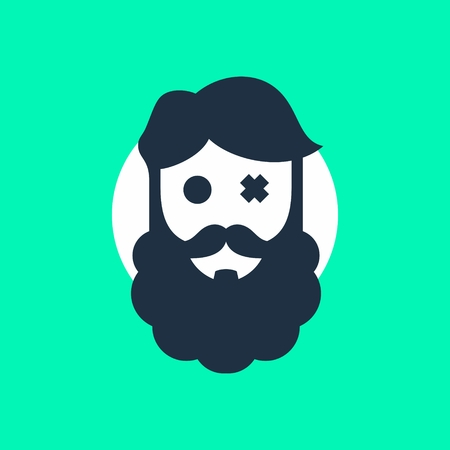 Bearded face