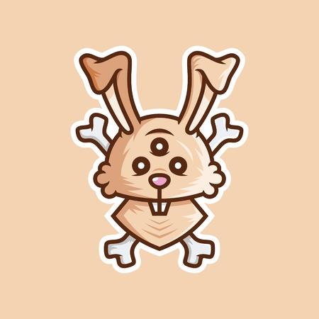Hare monster Illustration