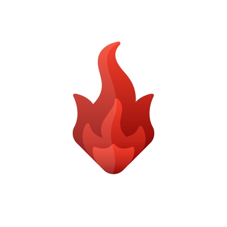 Flat color fire icon red abstract