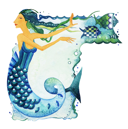 Mermaid As A Symbol Of The Sign Of The Zodiac Pisces Mermaid