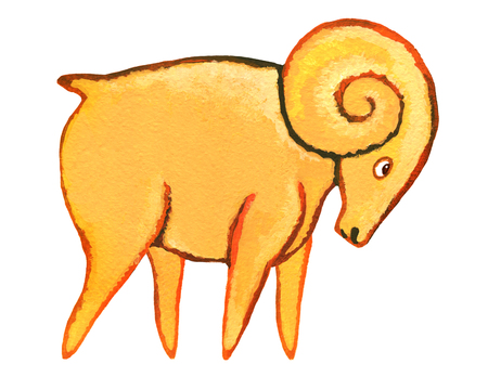 ascendant: Astrological sign of the zodiac Aries as a gingerbread, isolated on a white background