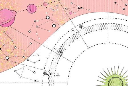 Horoscope. Stars and constellations control. Predictions and character traits.