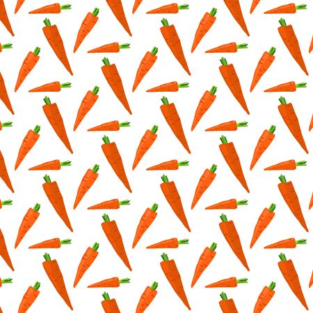 Сarrots vector seamless pattern on a white background