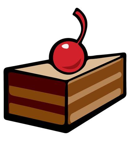 Cherry on the cake. Pop art. Retro style illustration