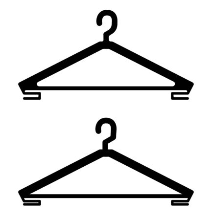 Set of two clothes hangers illustration