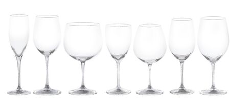 Set of glasses for wine. 3d Illustration. Isolated on a white background