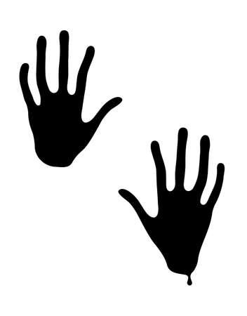 Black hands of terror. Vector illustration for Halloween.