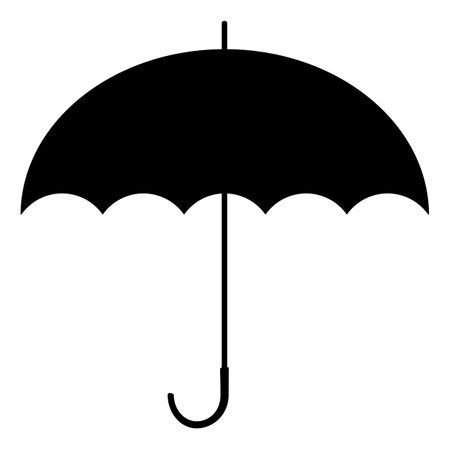 Black umbrella. Silhouette sign. Vector illustration. Standard-Bild - 161210465