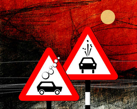 Dangerous road sign board Standard-Bild - 161407421