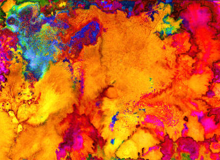 Bright watercolor holi texture for background. Psychedelic colors.