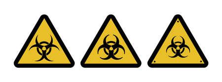Danger attention sign viral danger. Warning. biological and radiation hazard illustration. Standard-Bild