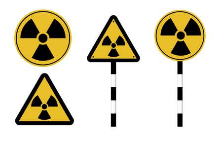 Danger attention sign. Warning. Radiation hazard illustration.