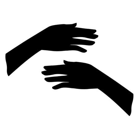 Gestures. Graceful hand of a woman. Graphic silhouette drawing illustration. Stock fotó