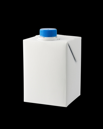 A half liter milk carton isolated on black background Stock Photo - 15358330