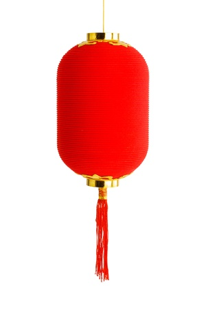 Red lantern for Chinese New Year isolated on white background