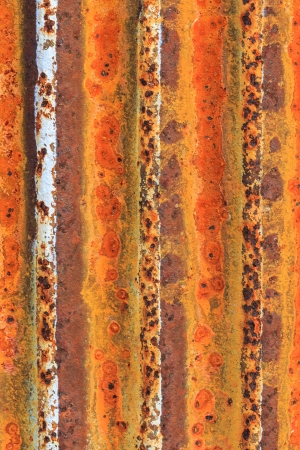 Rusty corrugated iron metal fence Zinc wall texture background Stock Photo - 17587041