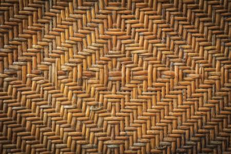 Old handcraft rattan weave texture background photo