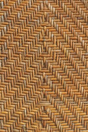Old handcraft rattan weave texture background photo