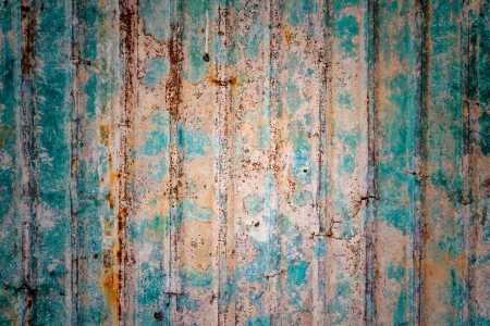 Rusty corrugated iron metal fence Zinc wall texture background Stock Photo - 18135273