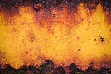Old yellow rusty metal grunge background Stock Photo - 18135286