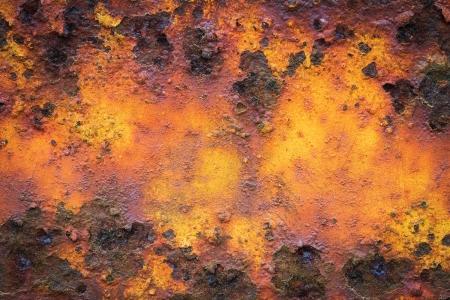 Old yellow rusty metal grunge background Stock Photo - 18135287