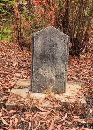 Old milestone in the countryside of Thailand photo