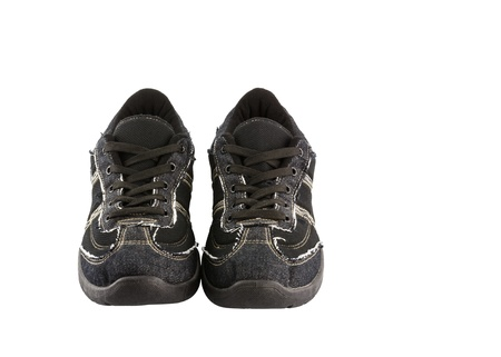 Black sneakers isolated on white background Stock Photo - 18596087