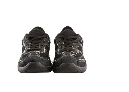 Black sneakers isolated on white background Stock Photo - 18596096