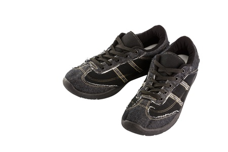 Black sneakers isolated on white background Stock Photo - 18596098