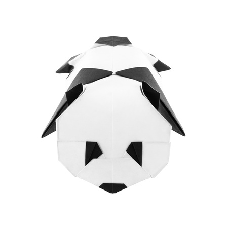 Origami Baby Panda Isolated On White Background Stock Photo Picture