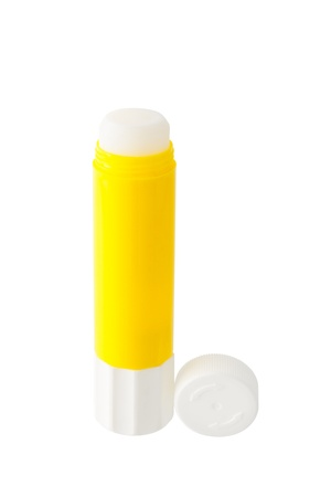 Glue stick isolated on white background photo