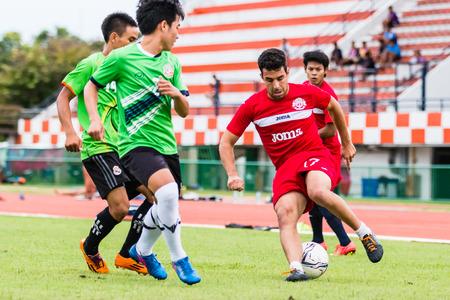 unofficial: SISAKET THAILAND-September 17: Gorka Unda of Sisaket FC. in action during Unofficial Friendly Match between Sisaket FC and Sisaket Utd at Sri Nakhon Lamduan Stadium on September 17,2014,Thailand