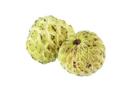 Custard apple isolated on white background photo