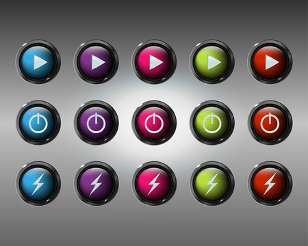 glossy buttons: Vector glossy buttons,  illustrations