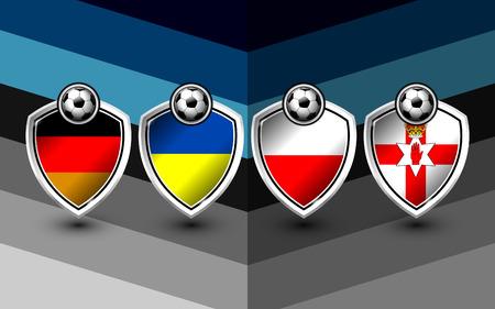 group c of soccer europe on tournament, Illustration