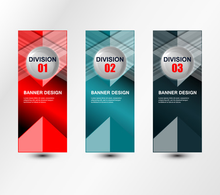 division: banners division design on grey background, vector illustration