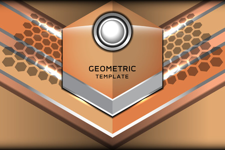 beige: geometric beige template, vector illustration