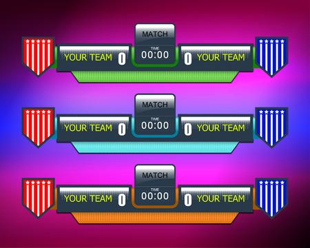 tournament chart: soccer or football scoreboard, vector illustration Illustration