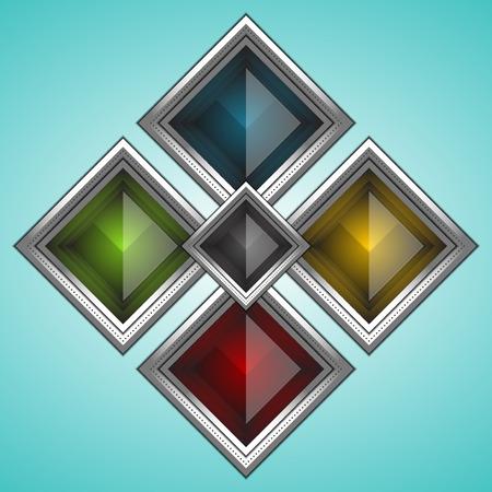 rectangle button: set of rectangle button, vector illustration