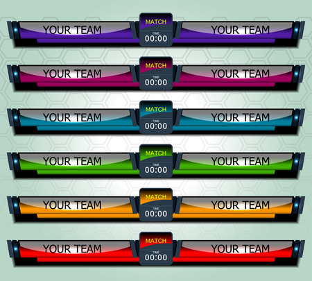 match: Soccer Match Scoreboard, vector illustration