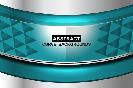sharp curve: blue curve abstract background, Vector Illustration