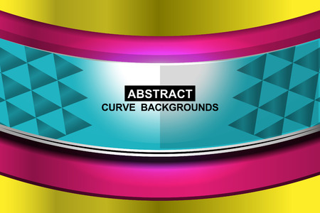 sharp curve: colorful curve abstract background, Illustration
